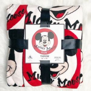 Disney Parks Mickey Mouse Club Fleece Throw